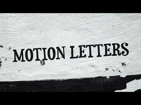 Motion Letters | After Effects Template | Project Files - Videohive