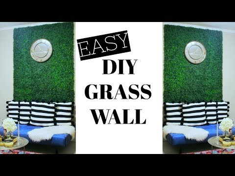 EASY DIY FAUX GRASS WALL ⎮ GLAM UP ANY ROOM