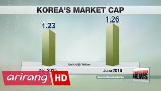 Korea ranks 14th in terms of global market cap