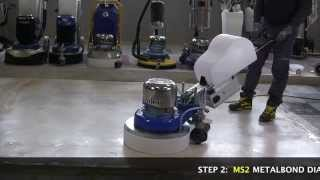 Marble floors How to grinding and polishing with Klindex Levighetor 650VS