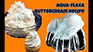 AquaFLAXA Swiss Buttercream Recipe || Gretchen's Bakery
