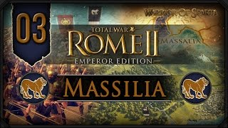 Total War Rome II: Emperor Edition ~ Massilia Campaign #3 - Latin Takedown!