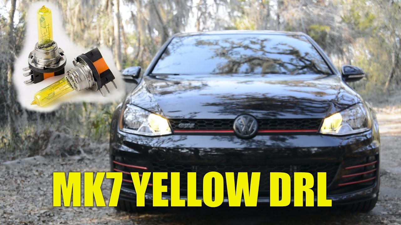 Mk7 Gti Build Yellow Drls Install Pfd Thewikihow