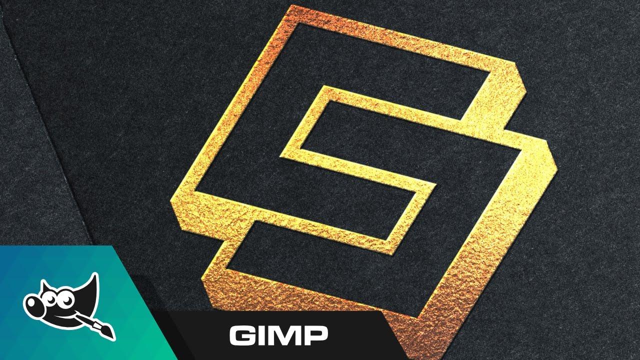Gimp tutorial gold foil logo mockup youtube gimp tutorial gold foil logo mockup reheart Choice Image