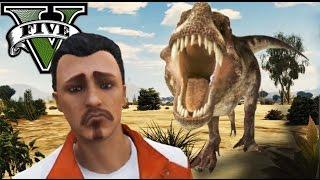 GTA V Online - DINOSAURIOS Y LA MAQUINA DEL TIEMPO!! - BRUTAL!! XD - NexxuzHD