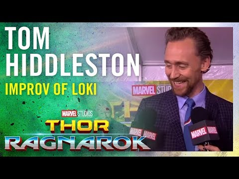 Tom Hiddleston On the Improv in Loki  Marvel Studios' Thor: Ragnarok Red Carpet Premiere