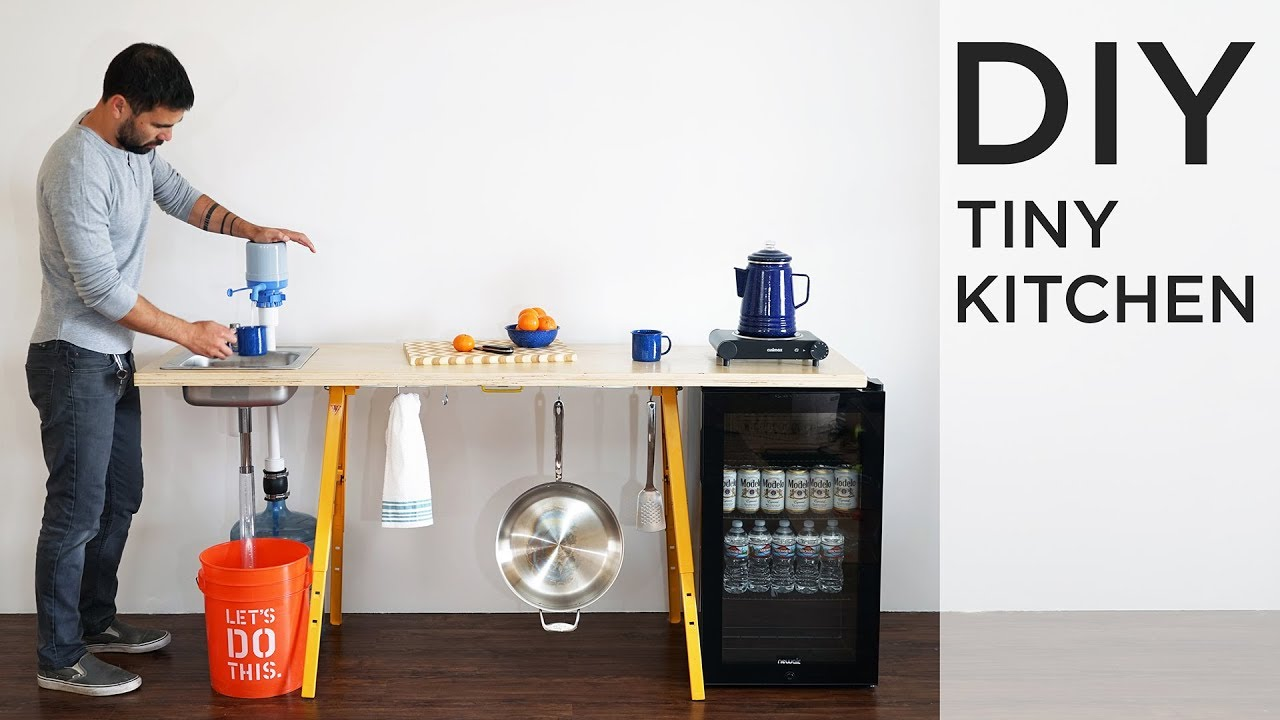 diy tiny kitchen the perfect for diy kitchen for camping - Diy Kitchen