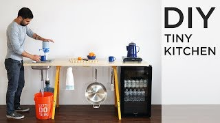 DIY Tiny Kitchen | The perfect for DIY Kitchen for Camping