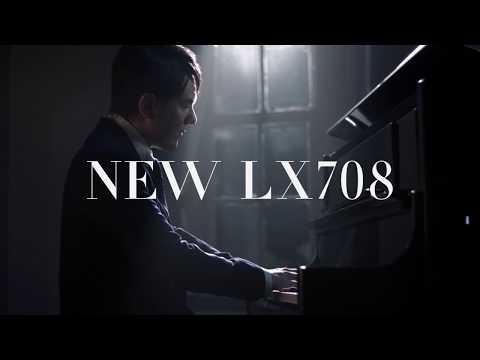【升昇樂器】Roland LX-708 數位鋼琴/電鋼琴/半木質琴鍵/直立式/八顆喇叭/鏡面黑