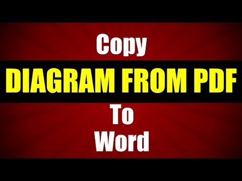 How To Copy Diagram From PDF To Word