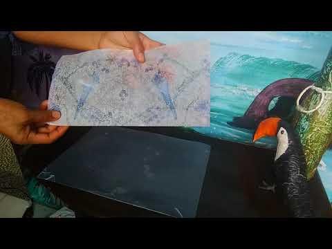 Como tirar a transparência do Guardanapo para Decoupage e aplicar em superfícies Escuras