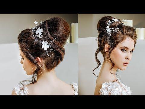Top Babette wedding bun hairstyle for long hair   Ponytail transformation into the bun tutorial thumbnail