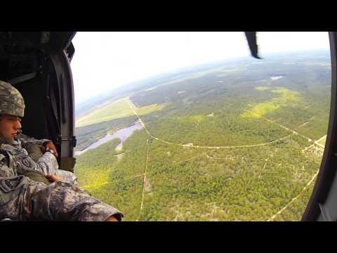 Blackhawk airborne jump over Luzon DZ with MC-6 pa
