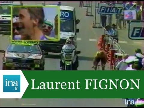 Laurent Fignon  battu de 8 secondes par Greg Lemond sur Les Champs Elysées - Archive vidéo Ina