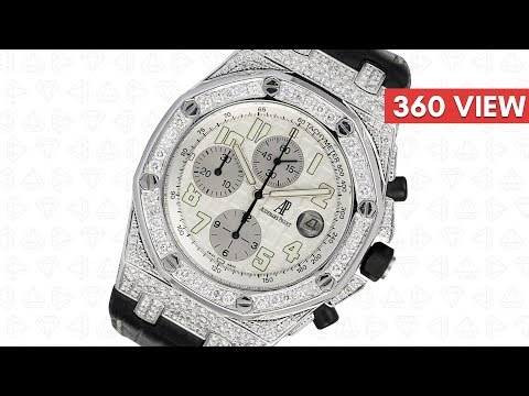 Audemars Piguet Royal Oak Offshore 42mm Diamond Set with White Dial - Time4Diamonds