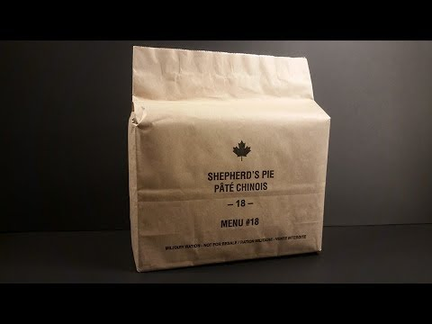 2018 Canadian IMP Shephard's Pie MRE Review Individual Meal Pack Tasting Test
