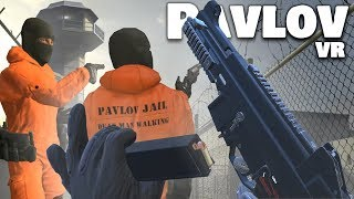 Escaping A MAXIMUM SECURITY PRISON In VIRTUAL REALITY! (Pavlov VR Funny Moments)
