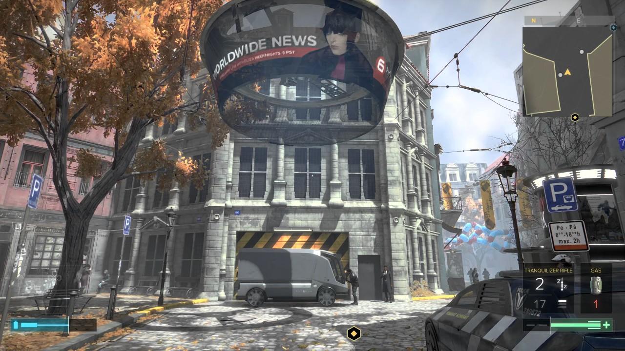 Deus Ex Mankind Divided's beautiful street environment