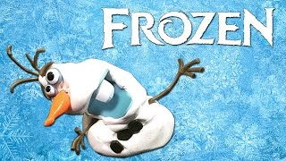 OLAF the melting snowman! - Frozen