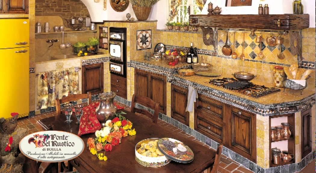 Cucine in legno massello - FONTE DEL RUSTICO - YouTube