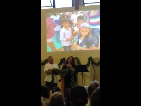 Small presentation of Colombia at Church