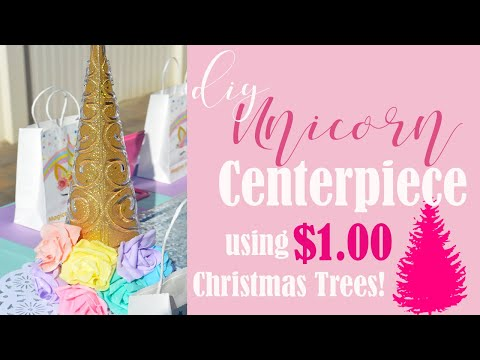 Easy DIY Unicorn Centerpiece for Party Decorations! 🦄   (Kids Party Ideas)