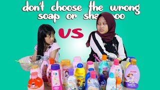 Don't Choose the Wrong Soap or Shampoo Slime Challenge