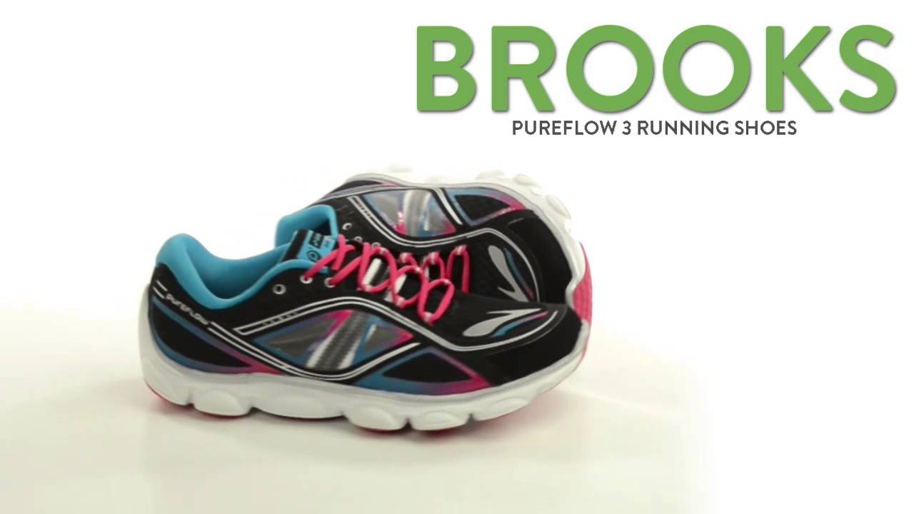 c0760f8eca8ed Brooks Pureflow 3 Running Shoes (For Big Kids) - YouTube