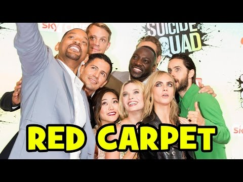 SUICIDE SQUAD European Premiere - Margot Robbie, Jared Leto, Will Smith, Cara Delevingne