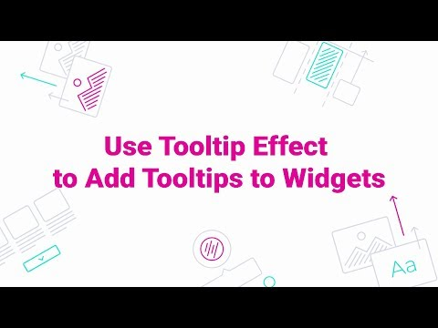 How to Use Tooltip Effect to Add Tooltips to Widgets