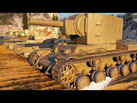 KV-2 - DERP PLATOON - World Of Tanks Gameplay