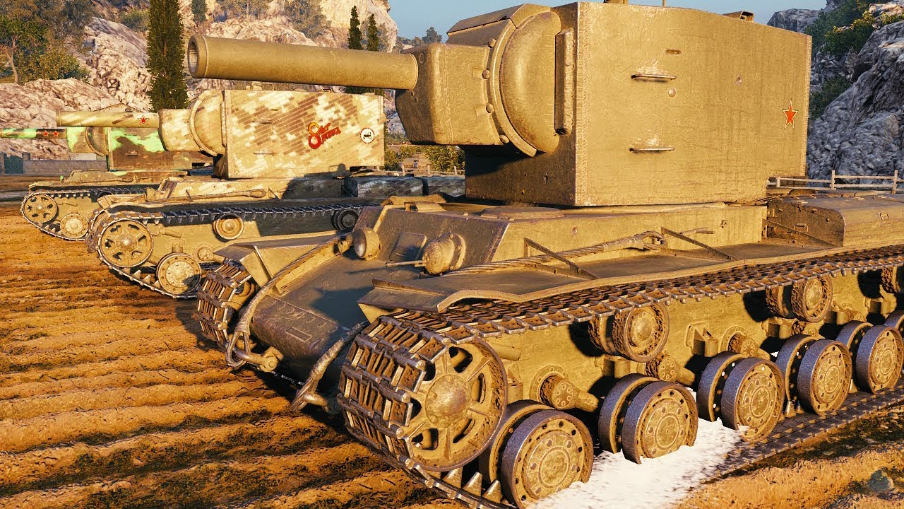 KV-2 - DERP PLATOON - World of Tanks Gameplay