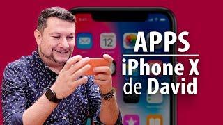 Qué apps tiene David en su iPhone X