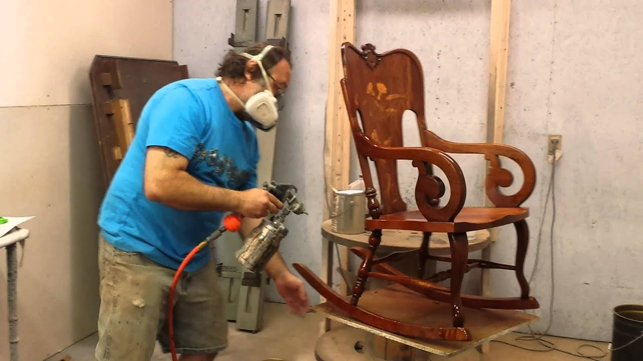 Exceptionnel Restoring A Mahogany Rocking Chair Timeless Arts Refinishing