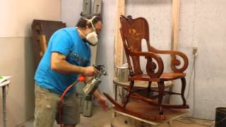 Restoring  A Mahogany Rocking Chair Timeless Arts Refinishing