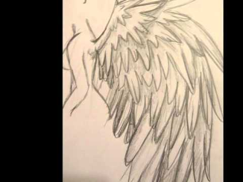 Tutorial how to draw angel wings