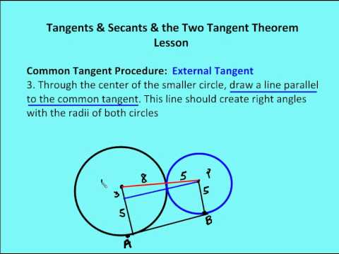 Tangents of Circles (solutions, examples, videos)