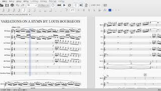 ルイ・ブルジョワの讃美歌による変奏曲 クラリネット8重奏