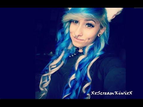 dying my hair white and blue xxscreamkiwixx youtube