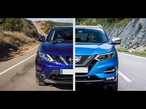 new 2017 nissan qashqai facelift vs old nissan qashqai. Black Bedroom Furniture Sets. Home Design Ideas