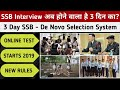 3 Day SSB Interview – SSB De Novo Selection System   New 3 Day SSB Interview Procedure