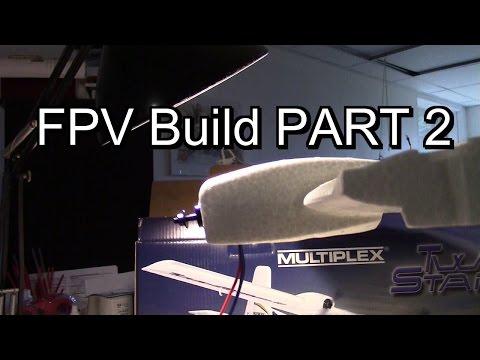 Multiplex Twin Star II FPV Build Part 2 - DIY motor mounts, assembling wing halves