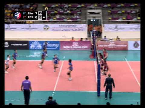 การแข่งขันวอลเลย์บอลยุวชนหญิงชิงแชมป์โลก ไทย พบกับ อียิปต์ เซ็ตที่ 2