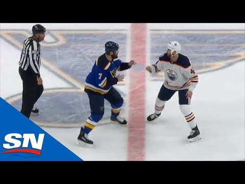 Patrick Maroon And Zack Kassian Square Off In Centre Ice Showdown