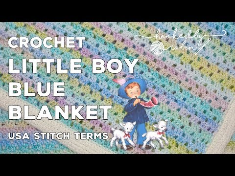 Crochet Little Boy Blue Vintage Baby Blanket | Easy Filet Pattern | Great for Beginners (& Fast!)
