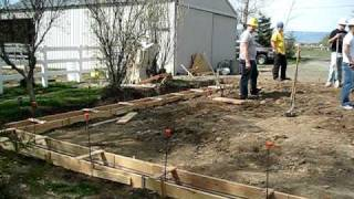 Garage Project, April 19, Footing Foundation Concrete Video1