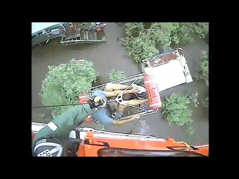 يورو نيوز:شاهد: عملية إنقاذ رجل سبعيني وكلبه من فيضانات