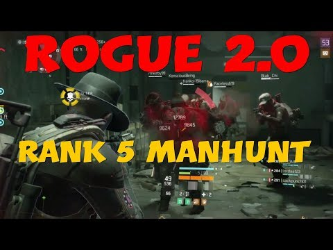 The Best Rogue 2.0 Rank 5 Manhunt Clear vs A Server full of Nomad and Pred ll The Division