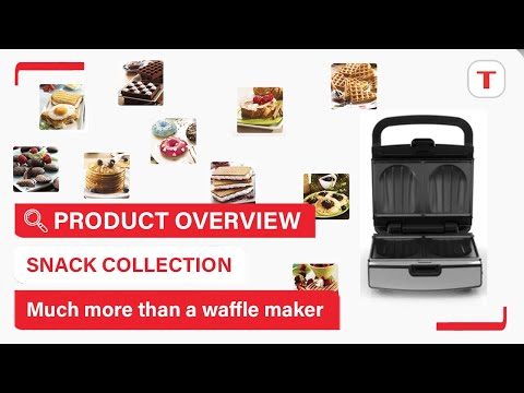 Enjoy sweet or savoury snacks thanks to the 12 collectible grill plates of Snack Collection | Tefal