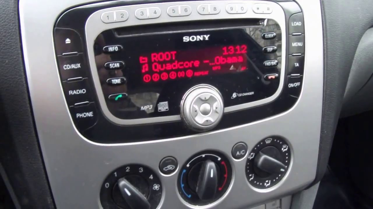2008 ford sony 6cd car radio youtube. Black Bedroom Furniture Sets. Home Design Ideas